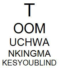 14 November 2007 (Wednesday) - At The Optician